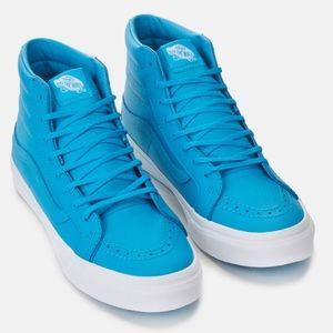 07498f65138e7a Vans Shoes - NWT Vans Sk8-Hi Slim Neon Blue Sneakers W 8.5